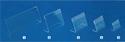 Immagine di Porta prezzi da vetrina cm.4,5x3,5-set 10 pezzi