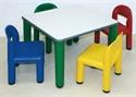 Immagine di Tavolino quadrato colorato Area Bimbi
