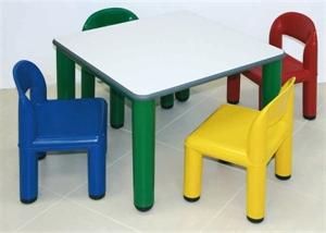 Accessori farmacia tavolino quadrato colorato area bimbi - Tavolino e sedie bimbi ikea ...