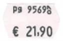 Immagine di Etichette adesive mm. 26x16 doppia riga