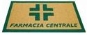 Immagine di Zerbino agugliato personalizzato con croce e/o vostro logo su misura, spessore mm.6, con bordo